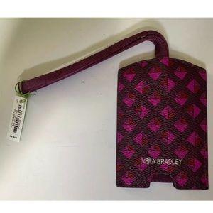 Vera Bradley Leather Luggage Tag Geometric NWT